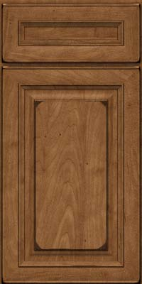 Square Raised Panel - Solid (RTM) Maple in Burnished Rye - Base