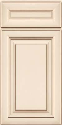 Square Raised Panel - Solid (RTM) Maple in Canvas w/Cocoa Glaze - Base