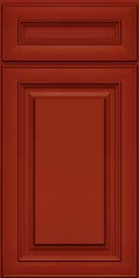 Square Raised Panel - Solid (RTM) Maple in Cardinal - Base