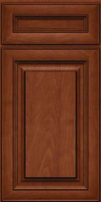 Square Raised Panel - Solid (RTM) Maple in Chestnut w/Onyx Glaze - Base