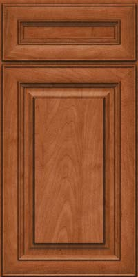 Square Raised Panel - Solid (RTM) Maple in Cinnamon - Base