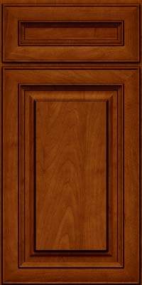 Square Raised Panel - Solid (RTM) Maple in Cinnamon w/Onyx Glaze - Base