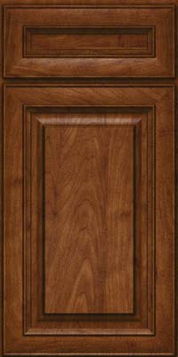 Square Raised Panel - Solid (RTM) Maple in Cognac - Base