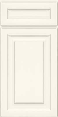 Square Raised Panel - Solid (RTM) Maple in Dove White - Base