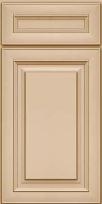 Square Raised Panel - Solid (RTM) Maple in Mushroom - Base