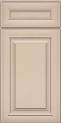 Square Raised Panel - Solid (RTM) Maple in Mushroom w/ Cinder Glaze - Base