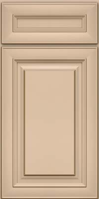 Square Raised Panel - Solid (RTM) Maple in Mushroom w/Cocoa Glaze - Base
