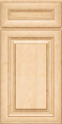 Square Raised Panel - Solid (RTM) Maple in Natural - Base