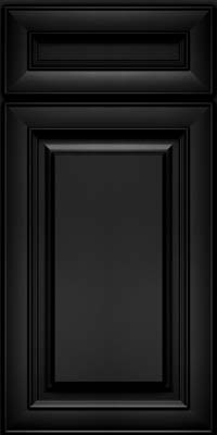Square Raised Panel - Solid (RTM) Maple in Onyx - Base