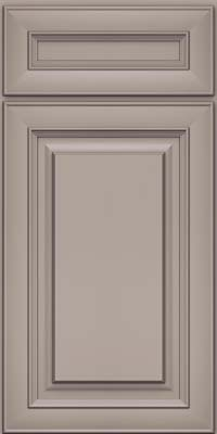 Square Raised Panel - Solid (RTM) Maple in Pebble Grey - Base