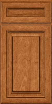 Square Raised Panel - Solid (RTM) Maple in Praline w/Mocha Highlight - Base