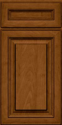 Square Raised Panel - Solid (RTM) Maple in Rye w/Sable Glaze - Base