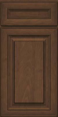 Square Raised Panel - Solid (RTM) Maple in Saddle Suede - Base