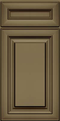 Square Raised Panel - Solid (RTM) Maple in Sage w/Cocoa Glaze - Base