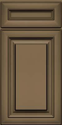 Square Raised Panel - Solid (RTM) Maple in Sage w/Onyx Glaze - Base