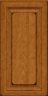 Square Raised Panel - Solid (RTM) Maple in Burnished Golden Lager - Wall
