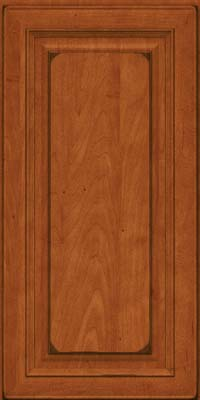 Square Raised Panel - Solid (RTM) Maple in Burnished Cinnamon - Wall