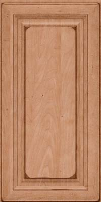 Square Raised Panel - Solid (RTM) Maple in Burnished Ginger - Wall