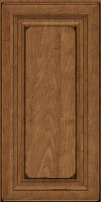 Square Raised Panel - Solid (RTM) Maple in Burnished Rye - Wall