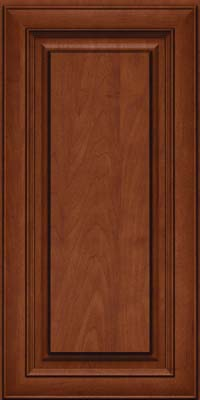 Square Raised Panel - Solid (RTM) Maple in Chestnut w/Onyx Glaze - Wall