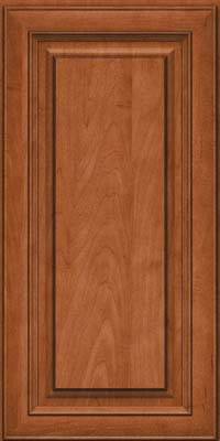 Square Raised Panel - Solid (RTM) Maple in Cinnamon - Wall