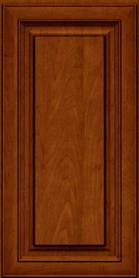 Square Raised Panel - Solid (RTM) Maple in Cinnamon w/Onyx Glaze - Wall