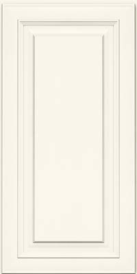 Square Raised Panel - Solid (RTM) Maple in Dove White - Wall