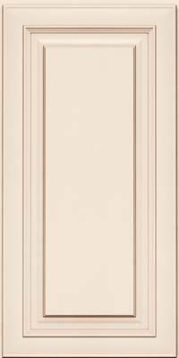 Square Raised Panel - Solid (RTM) Maple in Dove White w/Cocoa Glaze - Wall