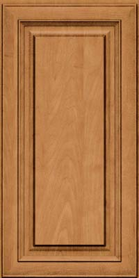 Square Raised Panel - Solid (RTM) Maple in Ginger w/Sable Glaze - Wall