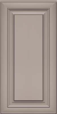 Square Raised Panel - Solid (RTM) Maple in Pebble Grey - Wall