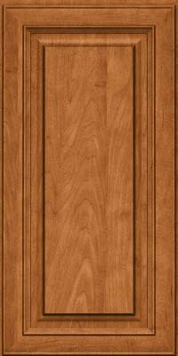 Square Raised Panel - Solid (RTM) Maple in Praline w/Mocha Highlight - Wall