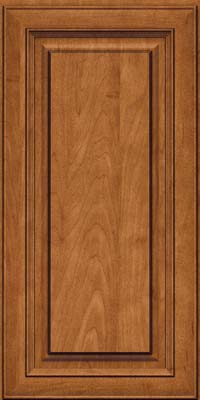Square Raised Panel - Solid (RTM) Maple in Praline w/Onyx Glaze - Wall
