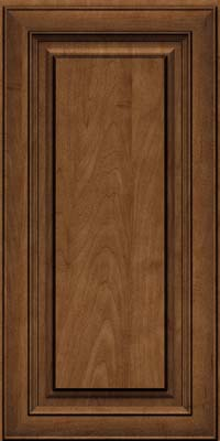 Square Raised Panel - Solid (RTM) Maple in Rye w/Onyx Glaze - Wall