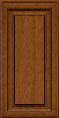 Square Raised Panel - Solid (RTM) Maple in Rye w/Sable Glaze - Wall