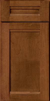 Square Recessed Panel - Veneer (AC8B) Birch in Antique Chocolate w/Mocha Glaze - Base