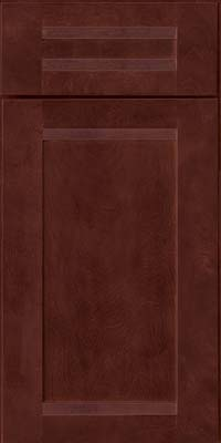 Square Recessed Panel - Veneer (AC8B) Birch in Cabernet - Base