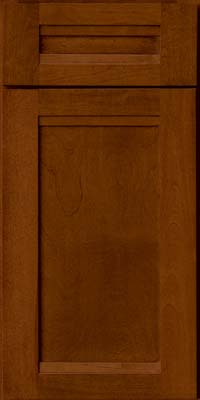 Square Recessed Panel - Veneer (AC8B) Birch in Chestnut - Base