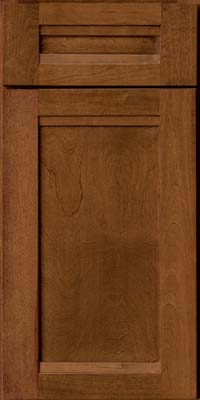 Square Recessed Panel - Veneer (AC8B) Birch in Chocolate - Base