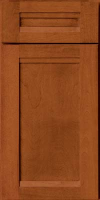 Square Recessed Panel - Veneer (AC8B) Birch in Cinnamon - Base