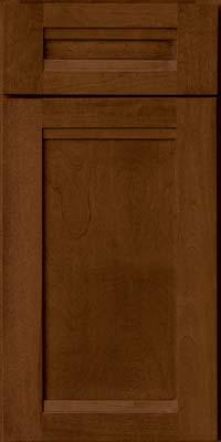 Square Recessed Panel - Veneer (AC8B) Birch in Cognac - Base