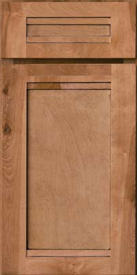 Square Recessed Panel - Veneer (AC8B) Birch in Ginger w/Sable Glaze - Base