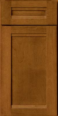 Square Recessed Panel - Veneer (AC8B) Birch in Golden Lager - Base