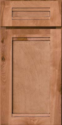 Square Recessed Panel - Veneer (AC8B) Birch in Honey Spice w/Mocha Highlight - Base