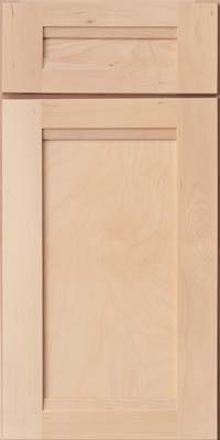 Square Recessed Panel - Veneer (AC8B) Birch in Parchment - Base
