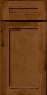 Square Recessed Panel - Veneer (AC8B) Birch in Rye w/Sable Glaze - Base