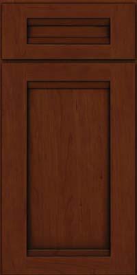Square Recessed Panel - Veneer (SNC) Cherry in Autumn Blush w/Onyx Glaze - Base