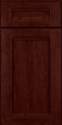 Square Recessed Panel - Veneer (SNC) Cherry in Cabernet - Base