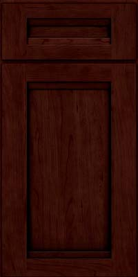 Square Recessed Panel - Veneer (SNC) Cherry in Cabernet w/Onyx Glaze - Base