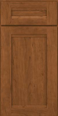 Square Recessed Panel - Veneer (SNC) Cherry in Rye - Base