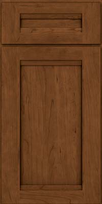 Square Recessed Panel - Veneer (SNC) Cherry in Rye w/Sable Glaze - Base